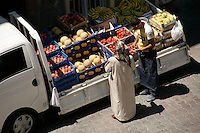 Van selling fruit and vegetables, istanbul, Turkey