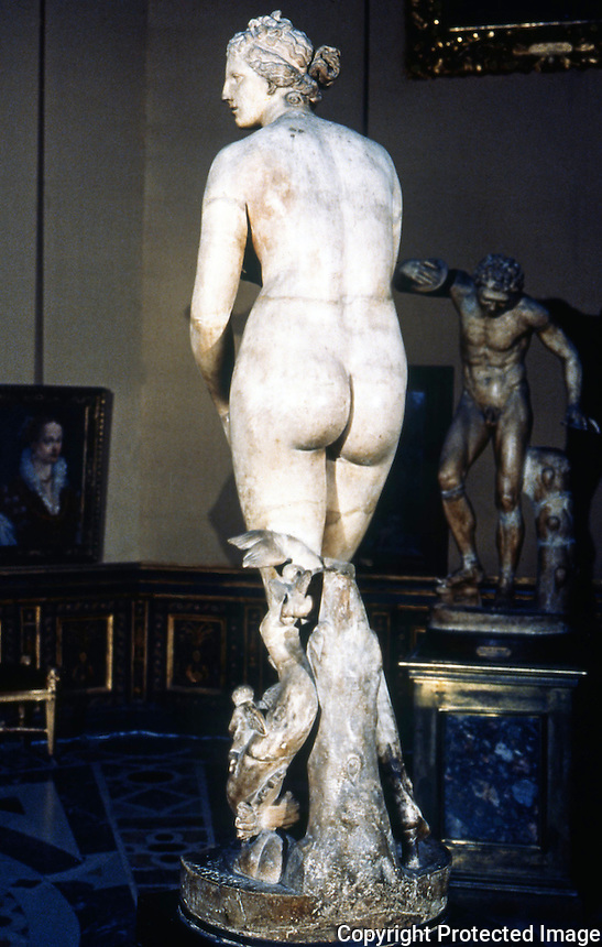 Greek Art:  Venus of Medici--Greek art of the beginning of the III Century B.C.   Galleria Uffizi.
