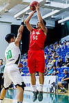 Li Kim Wong #55 of SCAA Men's Basketball Team attempts to score during the Hong Kong Basketball League game between Tycoon and SCAA at Southorn Stadium on May 23, 2018 in Hong Kong. Photo by Yu Chun Christopher Wong / Power Sport Images