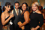 Artist Jacqueline J. Hernandez Khan, Eddie Gutierrez, Karmen Garcia and Danielle Thomas at the Red Bull Art of Can exhibit opening party at The Galleria Friday July 11,2008.