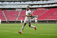 ZAPOPAN, MEXICO - MARCH 21: Hassani Dotson #18 of the United States celebrate a goal during a game between Dominican Republic and USMNT U-23 at Estadio Akron on March 21, 2021 in Zapopan, Mexico.