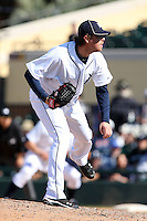 March 5, 2010:  Pitcher Phil Dumatrait of the Detroit Tigers during a Spring Training game at Joker Marchant Stadium in Lakeland, FL.  Photo By Mike Janes/Four Seam Images
