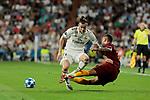 Real Madrid's Gareth Bale and AS Roma's Aleksander Kolarov during Champions League match. September 19, 2018. (ALTERPHOTOS/A. Perez Meca)