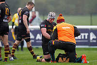 Joe Bercis of Ampthill sports a healthy bruise during the Greene King IPA Championship match between London Scottish Football Club and Ampthill RUFC at Richmond Athletic Ground, Richmond, United Kingdom on 26 October 2019. Photo by Carlton Myrie.