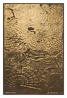 Gumbichromate with Gold & Silver leaf