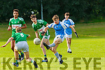 Stephen Palmer Firies agets his shot in under pressure from Callum O'Donoghue and Darragh Fleming Legion  during their Minor in Firies on Monday