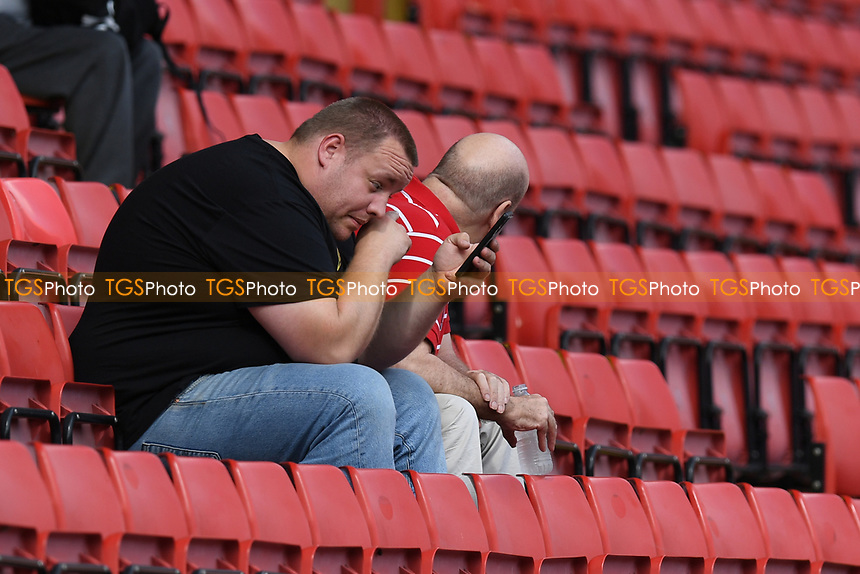Charlton fans Cries during Charlton Athletic vs Cheltenham Town, Sky Bet EFL League 1 Football at The Valley on 11th September 2021