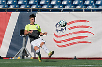 FOXBOROUGH, MA - JULY 25: USL League One (United Soccer League) match. Evan Conway #11 of Union Omaha during a game between Union Omaha and New England Revolution II at Gillette Stadium on July 25, 2020 in Foxborough, Massachusetts.