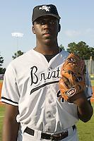 Bristol starting pitcher Nevin Griffith (46) at Burlington Athletic Park in Burlington, NC, Thursday, July 12, 2007.