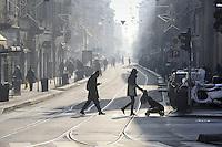 Milano 29/12/2015 - secondo giorno di blocco totale del traffico per il superamento dei limiti consentiti  di inquinamento, smog e polveri sottili