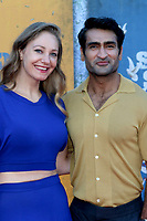 LOS ANGELES - AUG 2:  Emily V. Gordon, Kumail Nanjiani at the The Suicide Squad Premiere at the Village Theater on August 2, 2021 in Westwood, CA