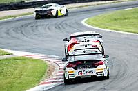 Will Burns & Gus Burton, BMW4 GT4, Century Motorsport pursues John Ferguson & Scott McKenna, Toyota GR Supra GT4, Toyota GAZOO Racing UK through Schwantz Curve during the British GT & F3 Championship on 10th July 2021