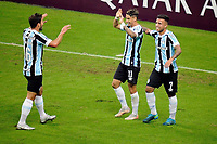 PORTO ALEGRE, RS, 13.05.2021 - GREMIO - LANUS - O atacante Ferreira, da equipe do Grêmio, comemora o seu gol, na partida entre Grêmio e Lanús, pela quarta rodada do Grupo H, da Copa Sul-Americana 2021, no estádio Arena do Grêmio, em Porto Alegre, nesta quinta-feira (13).