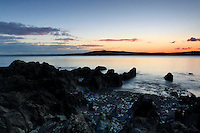 Loch Ryan and Galloway at dusk from Finnart's Bay near Glenapp, Ayrshire<br /> <br /> Copyright www.scottishhorizons.co.uk/Keith Fergus 2011 All Rights Reserved