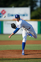 Burlington Royals starting pitcher Andre Davis (31) delivers a pitch to the plate against the Princeton Rays at Burlington Athletic Stadium on June 24, 2016 in Burlington, North Carolina.  The Rays defeated the Royals 16-2.  (Brian Westerholt/Four Seam Images)