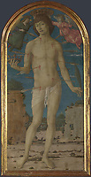 Full title: Saint Sebastian<br /> Artist: Matteo di Giovanni<br /> Date made: probably 1480-95<br /> Source: http://www.nationalgalleryimages.co.uk/<br /> Contact: picture.library@nationalgallery.co.uk<br /> <br /> Copyright © The National Gallery, London