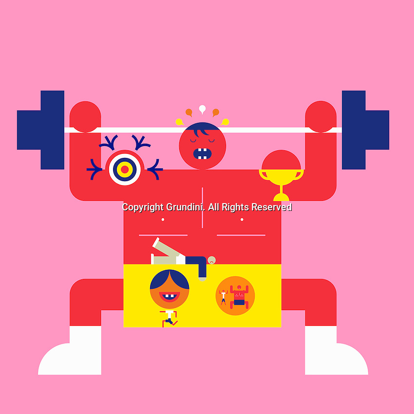 Abstract weightlifter ExclusiveImage ExclusiveArtist ExclusiveArtist