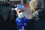 Arnaud Demare (FRA) Groupama-FDJ talks to the media at sign on for the 73rd edition of Kuurne-Brussel-Kuurne 2021 running 197km from Kuurne to Kuurne, Belgium. 28th February 2021  <br /> Picture: Serge Waldbillig | Cyclefile<br /> <br /> All photos usage must carry mandatory copyright credit (© Cyclefile | Serge Waldbillig)