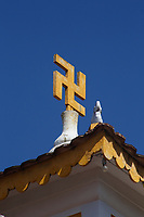 swastika on a temple<br />  in <br />  Hoi An, January, 2017