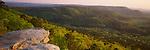 Petit Jean State Park, AR<br /> Cedar Creek Valley from a rock outcrop on M.A. Ritcher overlook
