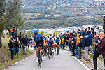 NTT Pro Cycling on the front of the peloton during Stage 10 of the 103rd edition of the Giro d'Italia 2020 running 177km from Lanciano to Tortoreto, Italy. 13th October 2020.  <br /> Picture: LaPresse/Fabio Ferrari | Cyclefile<br /> <br /> All photos usage must carry mandatory copyright credit (© Cyclefile | LaPresse/Fabio Ferrari)