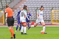 Hannah Eurlings (9) of OHL starting the female soccer game between RSC Anderlecht Dames and Oud Heverlee Leuven on the seventh matchday of play off 1 of the 2020 - 2021 season of Belgian Womens Super League , saturday 15 th of May 2021  in Brussels , Belgium . PHOTO SPORTPIX.BE | SPP | STIJN AUDOOREN