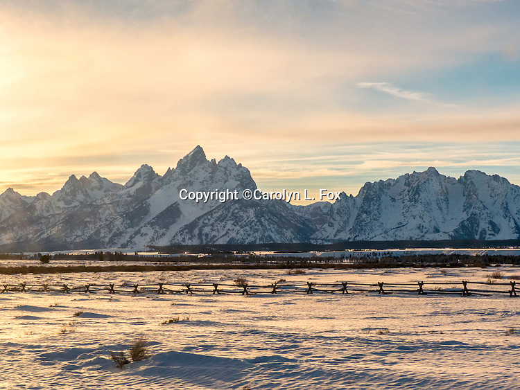 Grand Teton National Park is a popular vacation destination.  The mountains are beautiful.