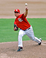 5 August 2007: Washington Nationals starting pitcher Matt Chico in action against the St. Louis Cardinals at RFK Stadium in Washington, DC. The Nationals defeated the Cardinals 6-3 to sweep their 3-game series...Mandatory Photo Credit: Ed Wolfstein Photo