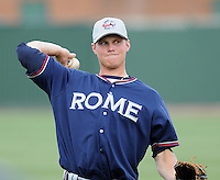 May 15, 2009: Infielder Randy Gress (11) of the Rome Braves, Class A affiliate of the Atlanta Braves, in a game against the Greenville Drive at Fluor Field at the West End in Greenville, S.C. Photo by: Tom Priddy/Four Seam Images