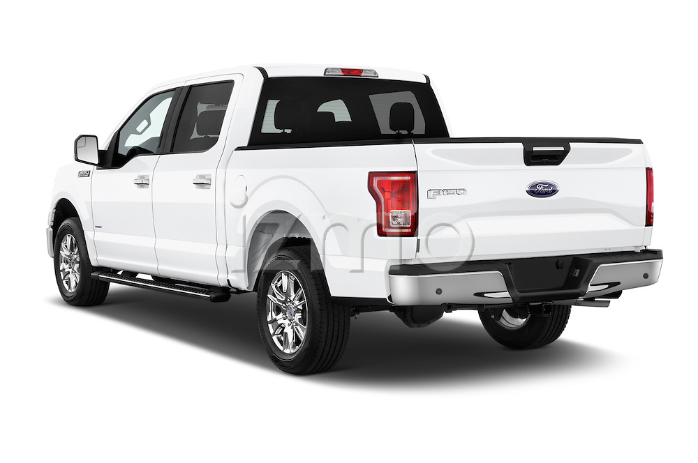 Car pictures of rear three quarter view of a 2015 Ford F 150 Xlt 4X2 Ecoboost 5 Door Trucks angular rear