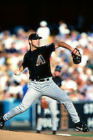 Andy Benes of the Arizona Diamondbacks participates in a Major League Baseball game at Dodger Stadium during the 1998 season in Los Angeles, California. (Larry Goren/Four Seam Images)