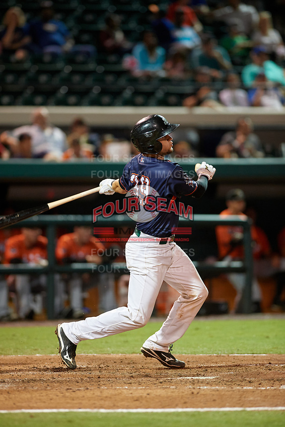 Daytona Tortugas Chris Okey (39) bats during the Florida State League All-Star Game on June 17, 2017 at Joker Marchant Stadium in Lakeland, Florida.  FSL North All-Stars defeated the FSL South All-Stars  5-2.  (Mike Janes/Four Seam Images)