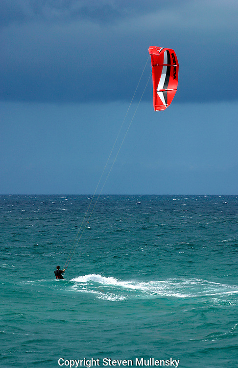 Kite boarding is the sport that combines windsurfing and hang gliding at the same time.