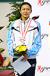 Sayaka Shibusawa,<br /> SEPTEMBER 18, 2015 - Diving : <br /> All Japan Diving Championship 2015<br /> Women's 3m Springboard Award ceremony<br /> at Tatsumi International Swimming Center, Tokyo, Japan.<br /> (Photo by Shingo Ito/AFLO SPORT)