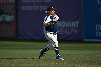 High Point-Thomasville HiToms pitcher Jacob Edwards (20) (UNC Asheville) warms up in the outfield prior to the game against the Deep River Muddogs at Finch Field on June 27, 2020 in Thomasville, NC.  The HiToms defeated the Muddogs 11-2. (Brian Westerholt/Four Seam Images)