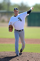 Chicago White Sox pitcher Ryan Bollinger (38) during an Instructional League game against the Los Angeles Dodgers on October 12, 2013 at Camelback Ranch Complex in Glendale, Arizona.  (Mike Janes/Four Seam Images)