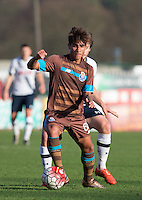 Federico Varela of Porto B in action during the Premier League U21 International Cup match between Tottenham Hotspur U21 and FC Porto B at the Lamex Stadium, Stevenage, England on 23 December 2015. Photo by Andy Rowland / PRiME Media Images