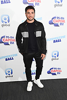 LONDON, UK. June 08, 2019: Jonas Blue poses on the media line before performing at the Summertime Ball 2019 at Wembley Arena, London<br /> Picture: Steve Vas/Featureflash