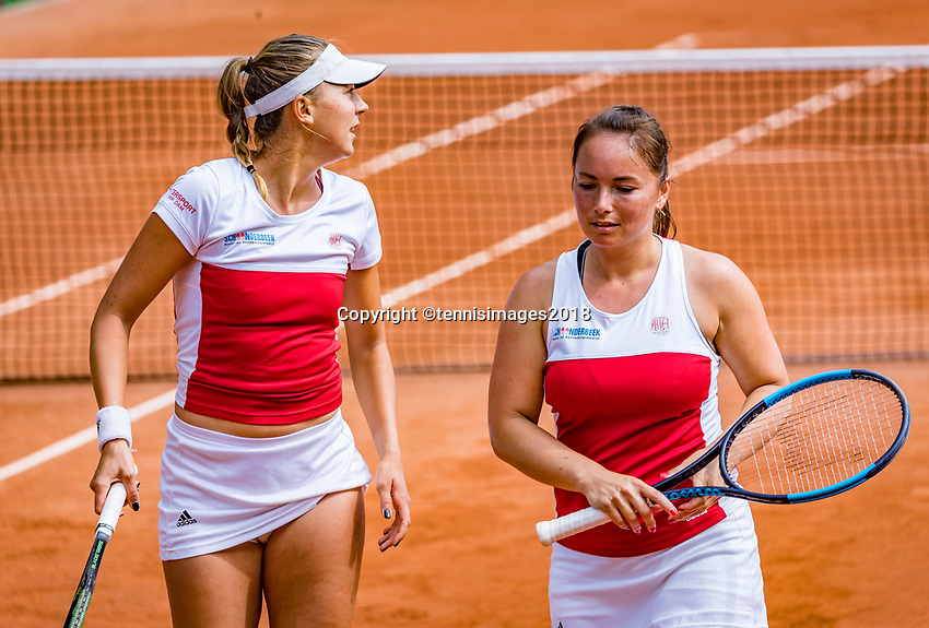 The Hague, Netherlands, 09 June, 2018, Tennis, Play-Offs Competition, Womans doubles: Nicole Thyssen (NED) and Raluca Serban (L)<br /> Photo: Henk Koster/tennisimages.com