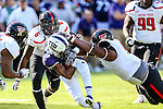 TCU Horned Frogs wide receiver KaVontae Turpin (25) in action during the game between the Texas Tech Red Raiders and the TCU Horned Frogs at the Amon G. Carter Stadium in Fort Worth, Texas.