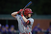 Ryan Hogan (6) of the St. John's Red Storm at bat against the Western Carolina Catamounts at Childress Field on March 12, 2021 in Cullowhee, North Carolina. (Brian Westerholt/Four Seam Images)