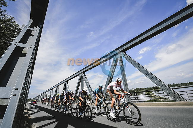 The breakaway during Stage 7 of the 2021 Tour de France, running 249.1km from Vierzon to Le Creusot, France. 2nd July 2021.  <br /> Picture: A.S.O./Pauline Ballet | Cyclefile<br /> <br /> All photos usage must carry mandatory copyright credit (© Cyclefile | A.S.O./Pauline Ballet)