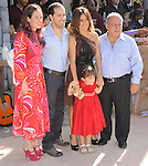 Salma Hayek and family  attends DreamWorks Animation SKG L.A. Premiere of Puss in Boots held at The Regency Village  Theatre in Westwood, California on October 23,2011                                                                               © 2011 DVS / Hollywood Press Agency