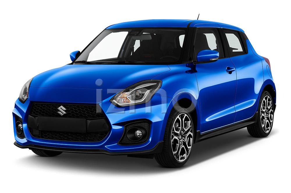 2020 Suzuki Swift-Sport Hybrid 5 Door Hatchback Angular Front automotive stock photos of front three quarter view