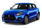 2020 Suzuki Swift-Sport Hybrid 5 Door Hatchback Angular Front automotive stock photos of front three quarter view