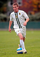 17 October 2007: The University of Vermont Catamounts' Jordan Crasilneck, a Junior from Eugene, OR, in action against the University of Maryland Retrievers at Historic Centennial Field in Burlington, Vermont. The Catamounts and Retrievers battled to a scoreless, double-overtime tie...Mandatory Photo Credit: Ed Wolfstein Photo
