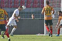 Edin Dzeko of AS Roma scores the goal of 0-1 for his team<br /> Lecce 29/09/2019 Stadio Via del Mare <br /> Football Serie A 2019/2020 <br /> US Lecce - AS Roma <br /> Photo Gino Mancini / Insidefoto