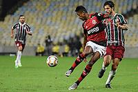 Rio de Janeiro (RJ), 15/07/2020 - Flamengo-Fluminense - Bruno Henrique (e) e Hudson (d). Partida entre Flamengo e Fluminense, válida pela final do Campeonato Carioca 2020, no Estádio Jornalista Mário Filho (Maracanã), na zona norte do Rio de Janeiro, nesta quarta-feira (15).