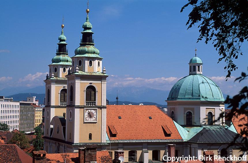 Blick auf Dom, Lubljana, Slowenien