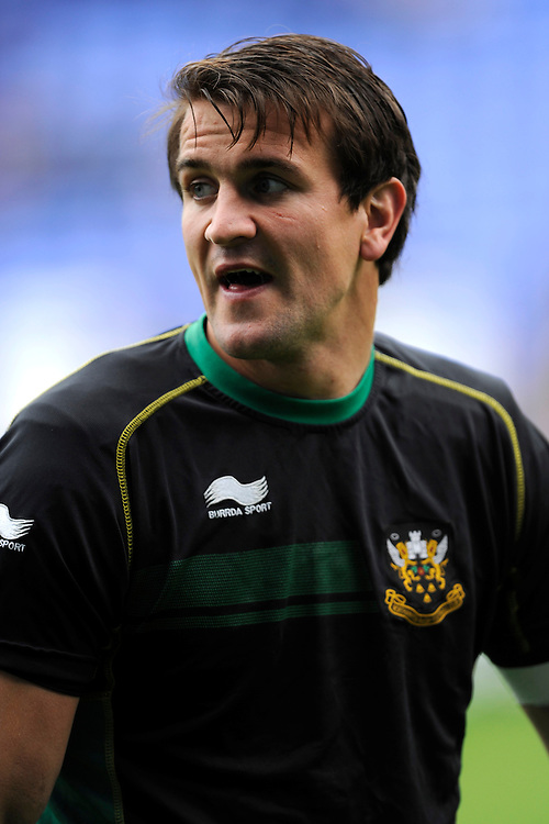 Lee Dickson of Northampton Saints during the Premiership Rugby match between London Irish and Northampton Saints at the Madejski Stadium on Saturday 4th October 2014 (Photo by Rob Munro)